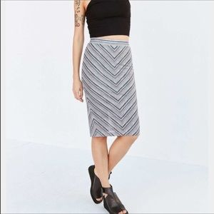 Urban Outfitters Multi-Color Slit Skirt